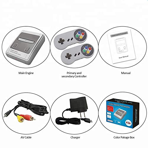 Old Arcade Classic Mini Game Consoles Classic Game Consoles Built-in 557 Games Video Games Handheld Game Player,AV Output,8-Bit , with 2.4 GHZ Wireless Controllers by Happy Zane (Image #5)