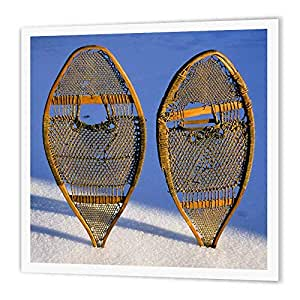 """3dRose ht_91588_3 Snow Shoes, Subarctic & Arctic Peoples US27 AWY0054 Angel Wynn Iron on Heat Transfer Paper for White Material, 10 by 10"""""""