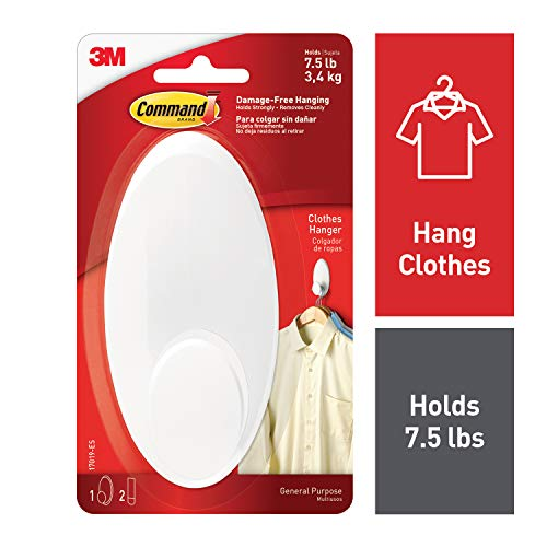 Command 7.5 lb Capacity Clothes Hanger, Decorate Damage-Free, Large (17019-ES)