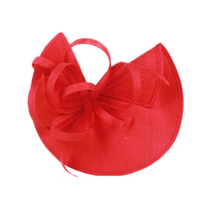 KRASTAL Ladies Wedding Hats for Women Pillbox Fascinators Hat Formal Cocktail Tea Party Derby Cap Chapeu Feminino Fedora Red