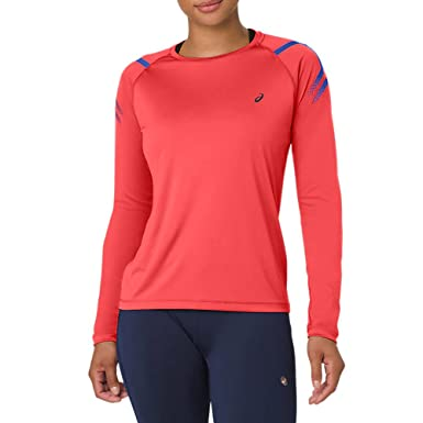 8b7a7a91d2 Asics Icon Long Sleeved 1/2 Zip Women's Top - AW18: Amazon.co.uk ...