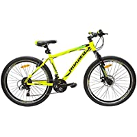 TI CYCLE OF INDIA Boy's Hercules Roadeo A50 Hard Tail Front Disc Brake Steel Bicycle (Yellow, 26-inch)