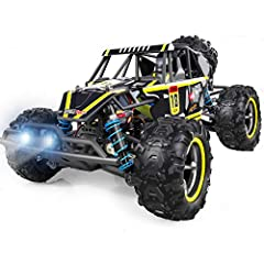 WHIRLT RC Cars, 2.4GHz Remote Control Toy Car, 4WD Racing Kids Toys RC Truck, Rechargeable Rock Crawler Christmas Car Toys for Kids and AdultsFEATURES:1. 1/18 scale 4 Wheel Drive remote control high speed racing car.2. 2.4GHZ radio technology...