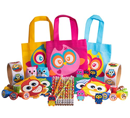 OTC Direct Cute Owl Party Favor Back to School Supplies Gifts for Kids and Teachers Bundle Kit Set (Pack of 41 pieces) by OTC Direct