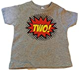 """Best Custom Kingdom Two Year Old Gifts - Custom Kingdom Baby Boys' """"Two"""" Superhero Colorful Second Review"""