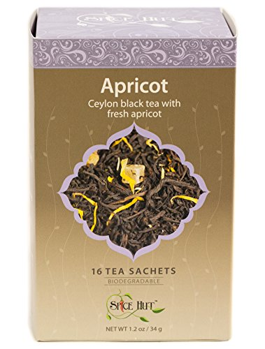 The Spice Hut Apricot Black Tea, 16 Count