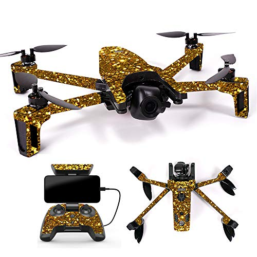 MightySkins Skin for Parrot Anafi Drone - Gold Dazzle | Protective, Durable, and Unique Vinyl Decal wrap Cover | Easy to Apply, Remove, and Change Styles | Made in The USA