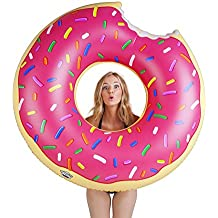BigMouth Inc Gigantic Donut Pool Float, Funny Inflatable Vinyl Summer Pool or Beach Toy, Patch Kit Included