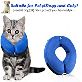 Surfei Protective Inflatable Dog Collar, Soft and Adjustable Recovery collar for Postoperative Wound Healing, Perfect to Prevent Pets from Touching Wounds Not Block Vision (X-Large)