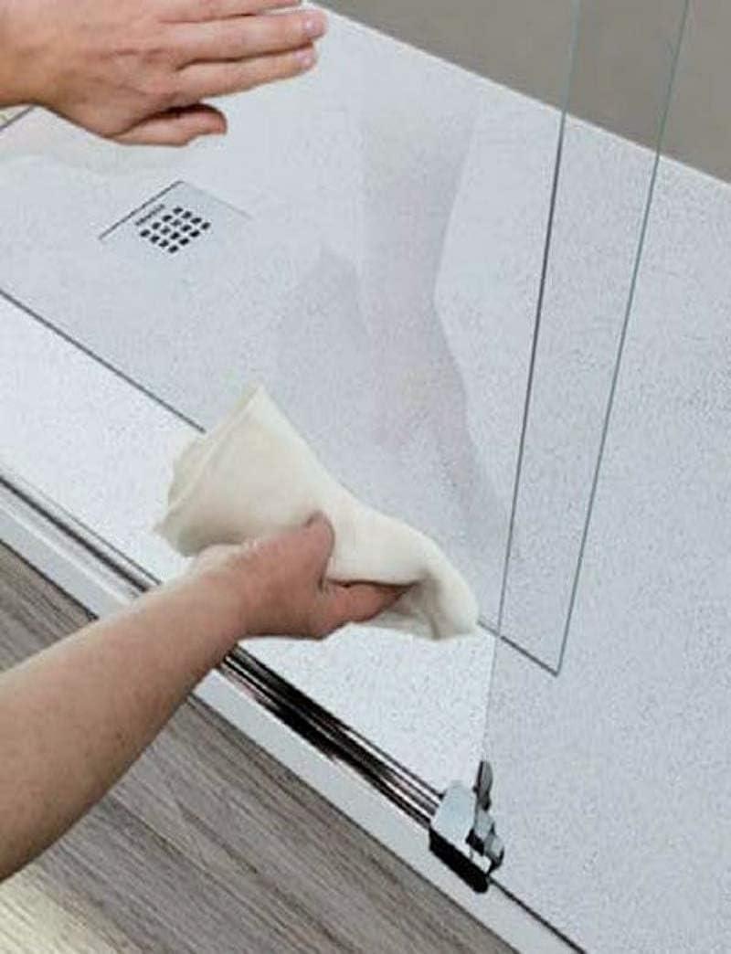 Mampara de Ducha Frontal - 1 Hoja Fija y 1 Puerta Corredera - Cristal de Seguridad de 8 mm - Modelo Luna 2 (132-136 cm): Amazon.es: Bricolaje y herramientas