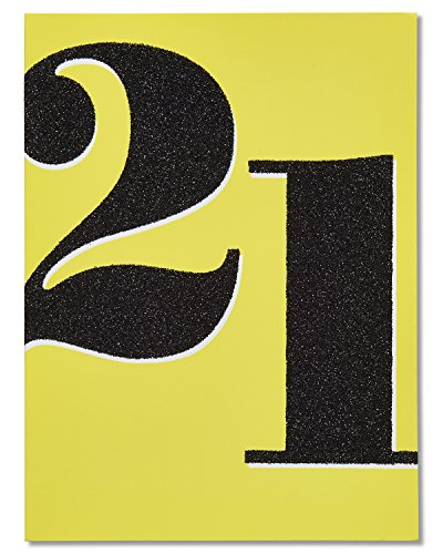 American Greetings 21st Birthday Card with Glitter (5801285)