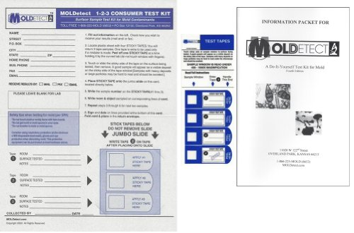 MOLDetect Three Sample Mold Test Kit W/ Accredited Analysis and Consulting by MOLDetect
