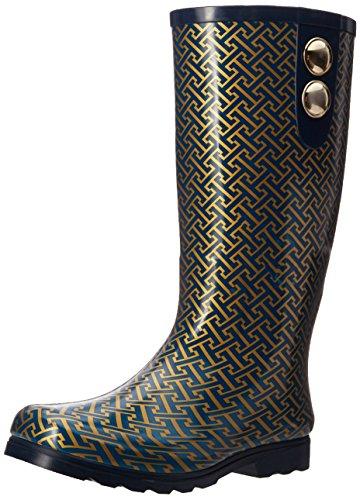Nomad Womens Puddles II Rain Boot Navy/Gold Hatch J7IPRtaGDE
