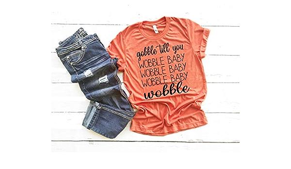 Racerback Tank Pumpkin Shirt Thanksgiving Shirt Gobble Turkey Shirt Be Thankful Leopard Gobble Till You Wobble Baby Fall Shirt