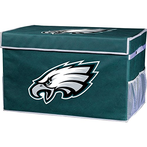 (Franklin Sports Philadelphia Eagles Collapsible Foot Locker Storage Bins - Team Logo Home Organizer - 26