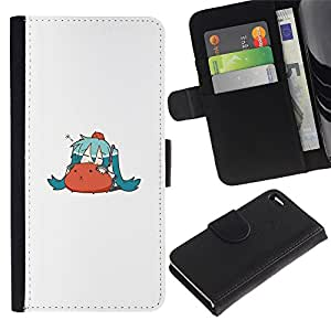 LECELL--Cuero de la tarjeta la carpeta del tirón Smartphone Slots Protección Holder For Apple Iphone 4 / 4S -- Lindo hámster --