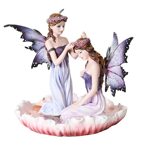 Ptc Group 6 Inch Purple Winged Fairy Sisters with Flower ...