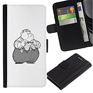 All Phone Most Case / Oferta Especial Cáscara Funda de cuero Monedero Cubierta de proteccion Caso / Wallet Case for Sony Xperia Z1 Compact D5503 // Kids Obese Nixon Cartoon Character