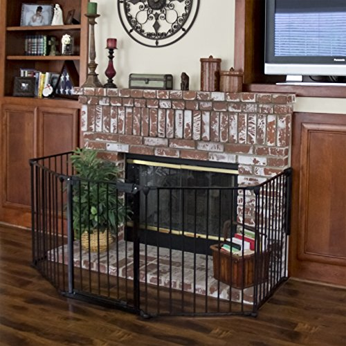 (Best Choice Products Baby Safety Fence Hearth Gate BBQ Fire Gate Fireplace Metal Plastic)