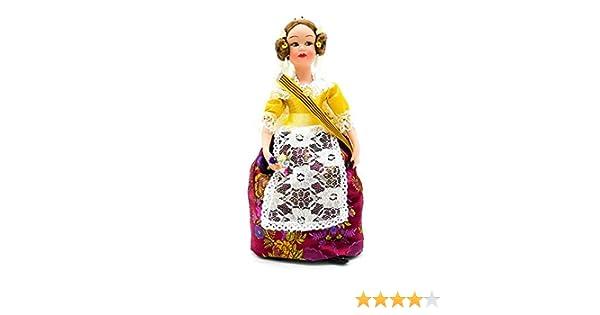 Amazon.es: Folk Artesanía Muñeca Porcelana 30 cm Modelo Valenciana ...