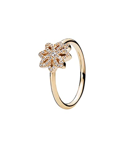 ed84b9352 Image Unavailable. Image not available for. Color: Pandora Lace Botanique  14K Cz Ring ...