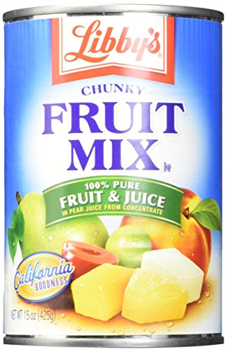 - Libby's Fruit Mix Chunky In Pear Juices Concentrate Cans, 15 Ounce (Pack of 12)
