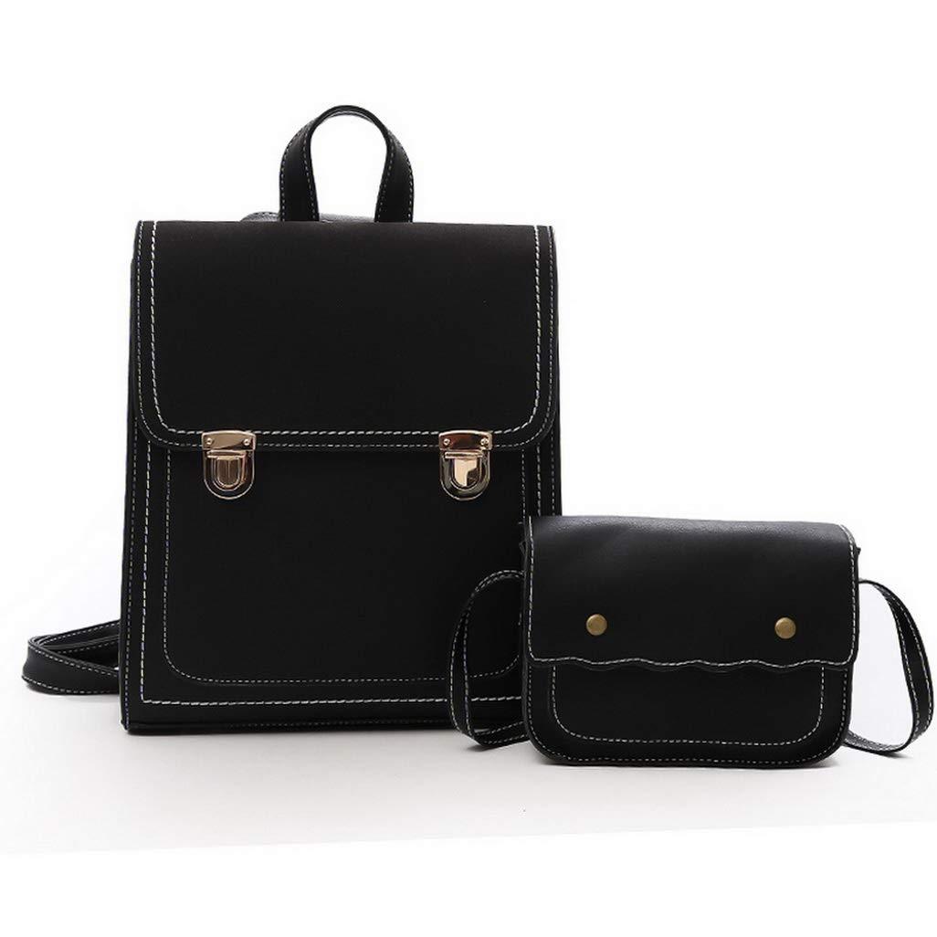 Women PU Leather Backpack Female Set Fashion Rucksack Designer Vintage Shoulder Bag Mochila Escola Mochila