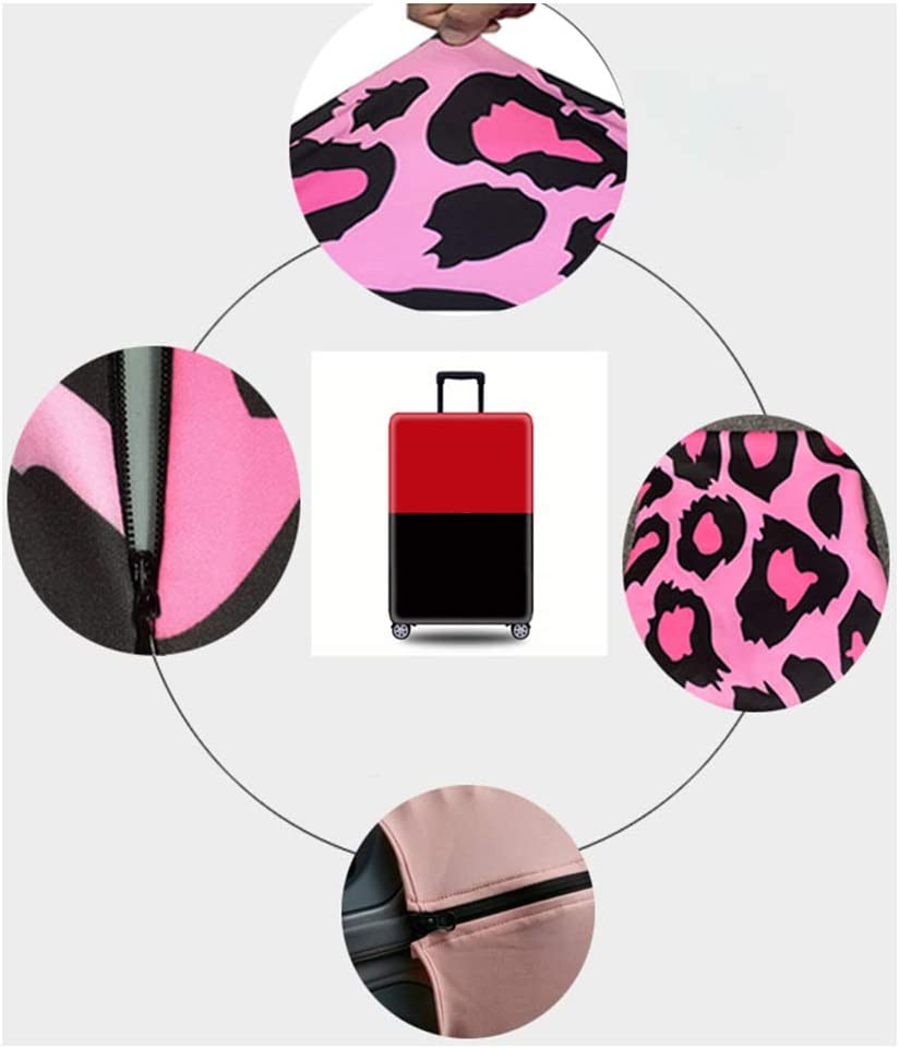 Suitcase Not included Janjunsi Luggage Cover Flamingo Pattern Travel Suitcase Protector Trolley Cases Dust-Proof