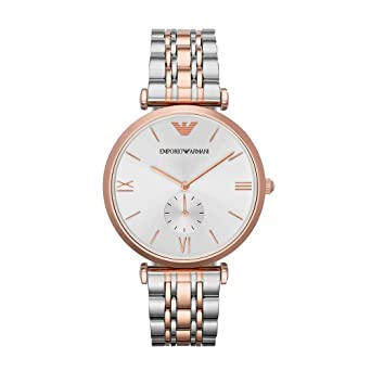 09d34d88 Emporio Armani Women's Quartz Watch with Stainless-Steel-Plated Strap, Two  Tone, 18 (Model: AR1677