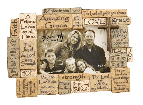 By Faith Picture Frame (Frame 6X4 Multi-Verse)