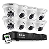 Product review for ZOSI 8-Channel 720P HD-TVI Home Surveillance Camera System,1080N CCTV DVR Recorder (1TB Hard Disk Built-in ) and (8) 1.0MP 1280TVL Outdoor/Indoor Security Cameras with Night Vision LEDs