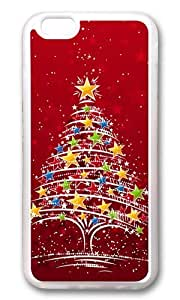 MOKSHOP Adorable Colorful Christmas Tree Soft Case Protective Shell Cell Phone Cover For Apple Iphone 6 (4.7 Inch) - TPU Transparent