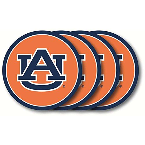 NCAA Auburn Tigers Vinyl Coaster Set (Pack of 4)