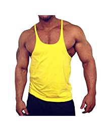 MUSCLE ALIVE Blank Bodybuilding Stringer Tank Tops Men Cotton