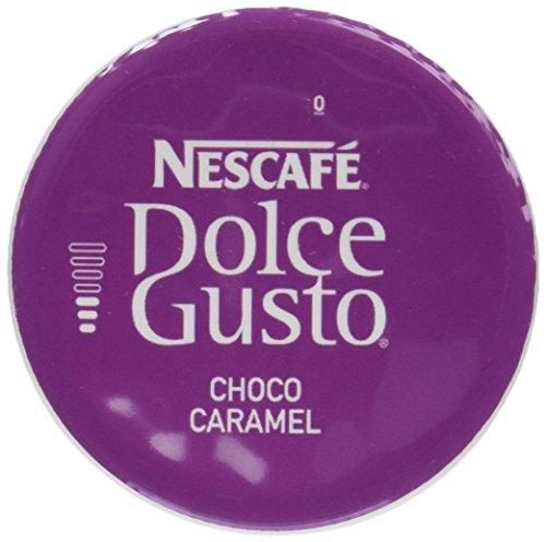 Choco Caramel - Nescafé Dolce Gusto Choco Caramel, Cocoa with Caramel, 16 Capsules (8 Servings)