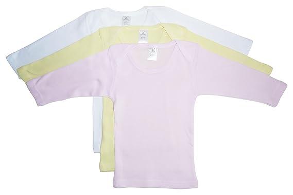 55f468c05033 bambini Girls Pastel Variety Long Sleeve Lap T-shirts - Newborn -  Pink/Yellow
