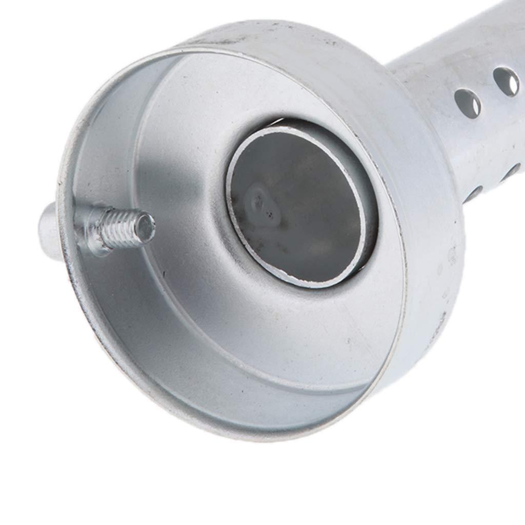 B Blesiya Inserto de Motocicleta Deflector Silenciador Acero Inoxidable 60mm Color Plata