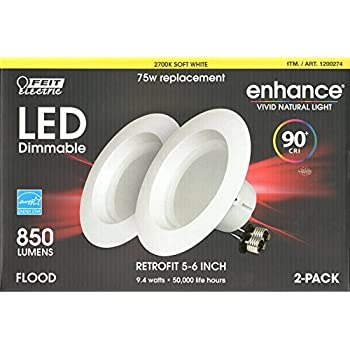 Feit Electric Led 2 Pack Retrofit Kit Replaces 5 6 Inch Soft