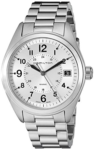 Hamilton Men's H68551153 Khaki Field Analog Display Swiss Quartz Silver Watch by Hamilton
