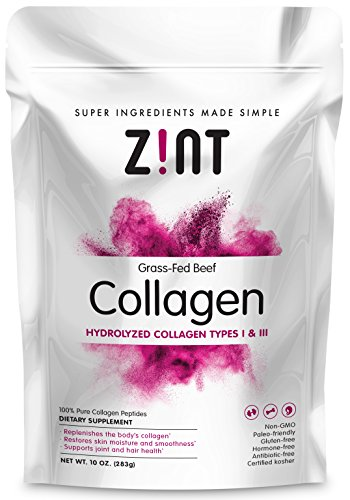 Hydrolyzed Collagen Powder (10 oz): Anti Aging Collagen Peptides Protein Supplements - Unflavored, Paleo Friendly, Grass Fed, Non GMO - Beauty, Skin, Hair & Nails