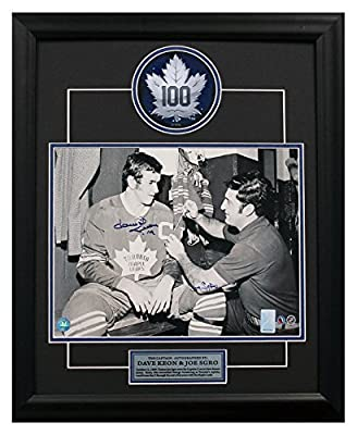 Dave Keon & Joe Sgro Toronto Maple Leafs Autographed New Captain 19x23 Frame
