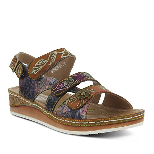 (L'Artiste by Spring Step Women's Sumacah-cam Slide Sandal, Camel, 39 EU/8.5 M US)