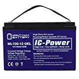 12V 100AH GEL Battery Replaces Freedom Electric Twin Troller X10 - Mighty Max Battery brand product