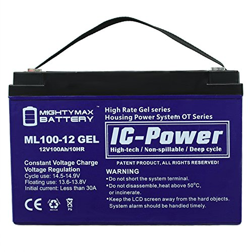 12V 100AH GEL Battery Replaces Freedom Electric Twin Troller X10 - Mighty Max Battery brand product by Mighty Max Battery