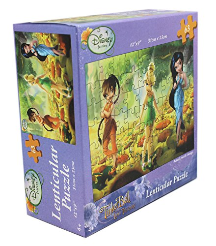(Disney Fairies TinkerBell and The Lost Treasure Lenticular 63 Piece Puzzle)