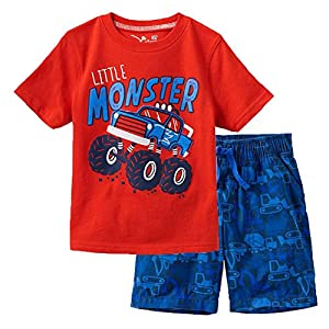 Toddler Boys The Little Monster Truck Tee and Shorts Set 18M-7Y