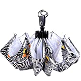 10 Ribs Auto Open/close Umbrella,Zebra Stripes Printed,Diameter 105cm