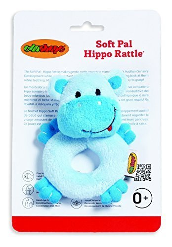 - Edushape Soft Pal, Hippo Rattle by Edushape