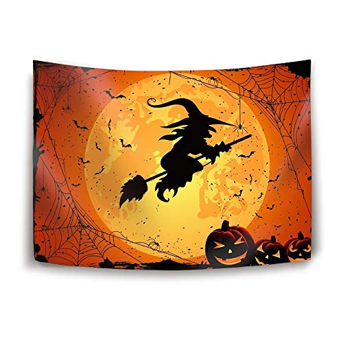 Michael Trollpoe Halloween Moon Tapestry Nature Tapestry Wall Hanging for Bedroom Living Room Dorm]()