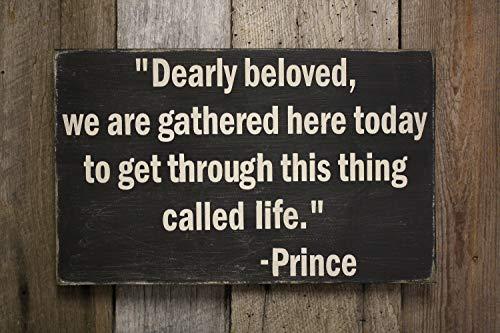 Blanche989 Prince Dearly Beloved Sign Prince Decor Prince Quote Sign Prince Wall Decor Lets Go Crazy Wedding Gift